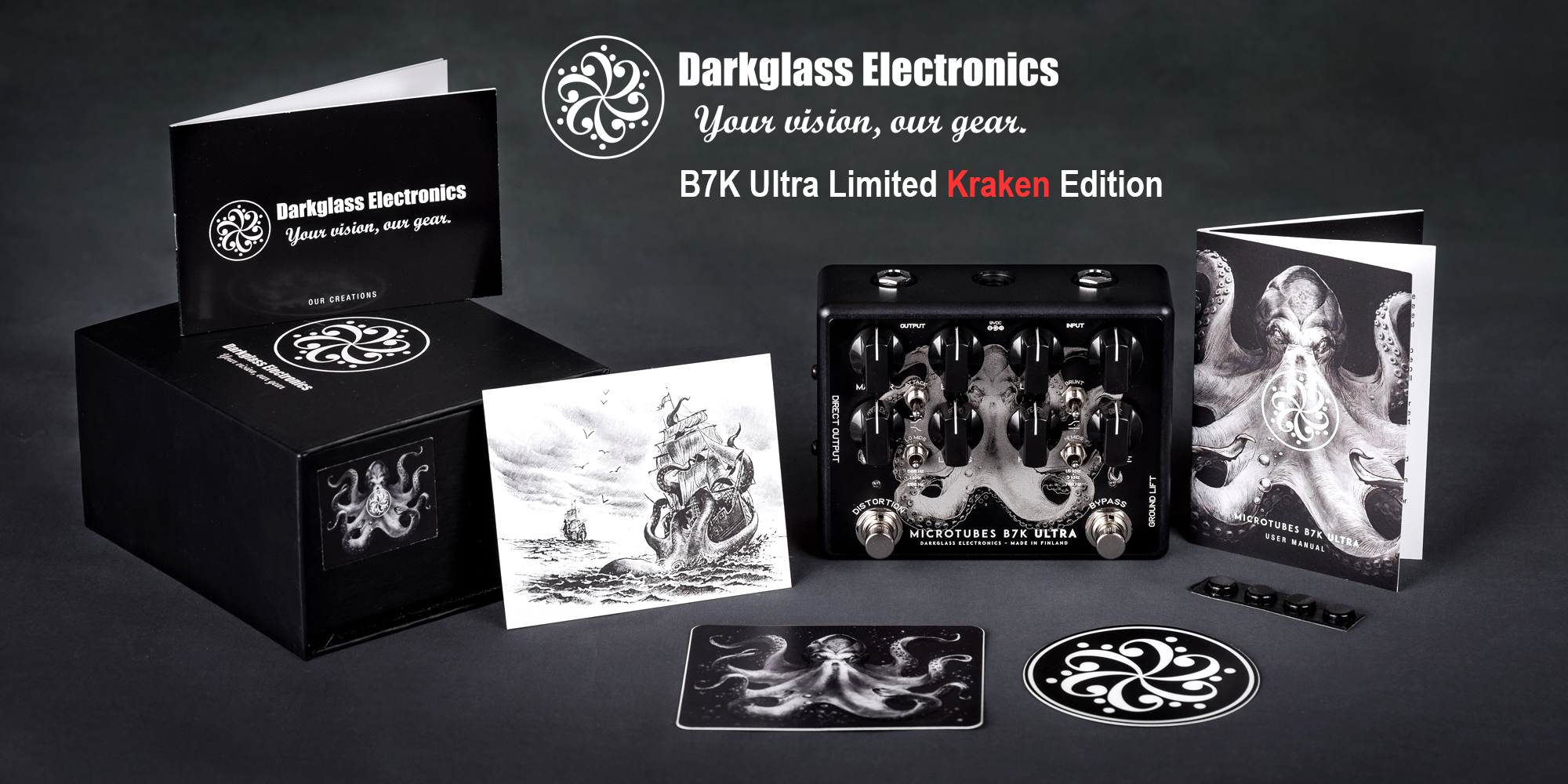 Darkglass Electronics 新製品 B7K Ultra Limited Kraken Edition リリース!