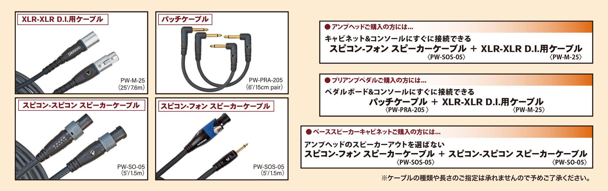 D'Addarioのハイクオリティケーブル(ご購入製品にマッチした2種類)をもれなくプレゼント!!